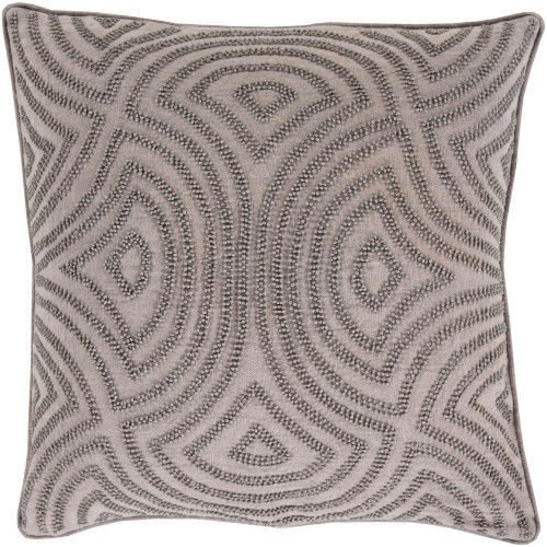 """18"""" Gray Geometric Square Throw Pillow Cover - IMAGE 1"""