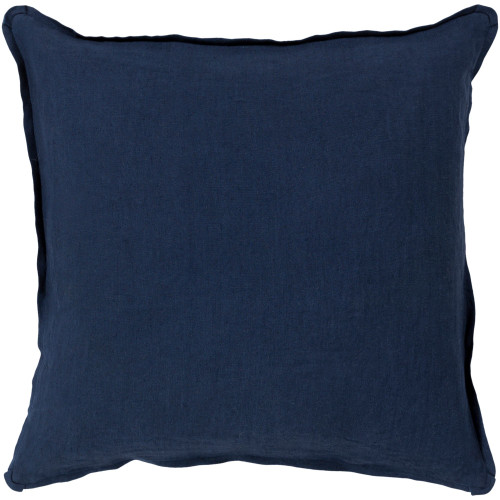 """20"""" Navy Blue Solid Square Throw Pillow Cover with Knife Edge - IMAGE 1"""