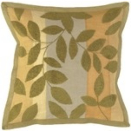 """18"""" Brown and Gray Tropical Square Throw Pillow Cover - IMAGE 1"""