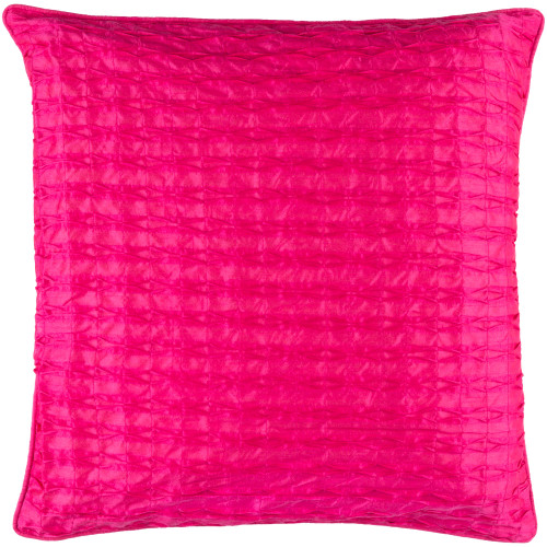 "22"" Pink Geometric Woven Square Throw Pillow Cover - IMAGE 1"