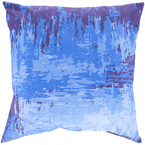 """22"""" Navy Blue Antique Square Throw Pillow Cover - IMAGE 1"""