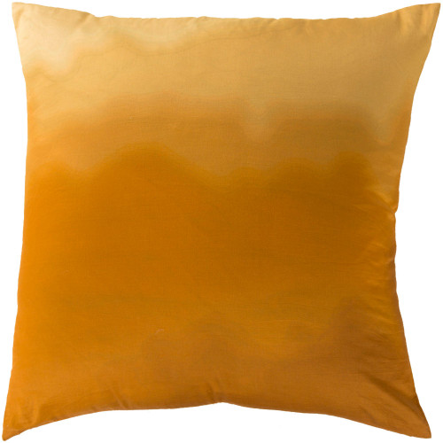 """22"""" Golden Yellow Square Throw Pillow Cover with Knife Edges - IMAGE 1"""