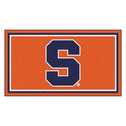 3' x 5' Orange and Blue NCAA Syracuse Orange Rectangular Plush Area Throw Rug - IMAGE 1