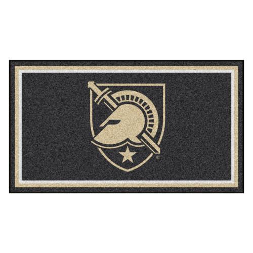 3' x 5' Black and Beige NCAA US Military Academy Army Black Knights Rectangular Plush Area Throw Rug - IMAGE 1