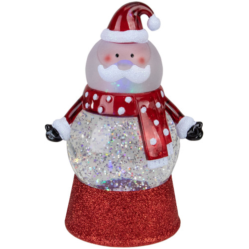 7.25 Santa Claus LED Lighted Swirling Glitter Water Globe Christmas Tabletop Decoration - IMAGE 1