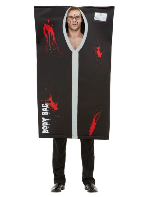 Black and Red Bodybag Men Adult Halloween Costume - One Size - IMAGE 1