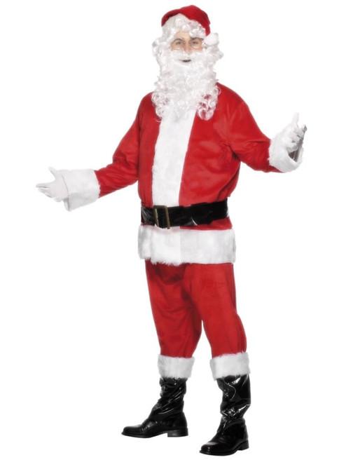 "44"" Red and White Santa Men Adult Christmas Costume - Medium - IMAGE 1"