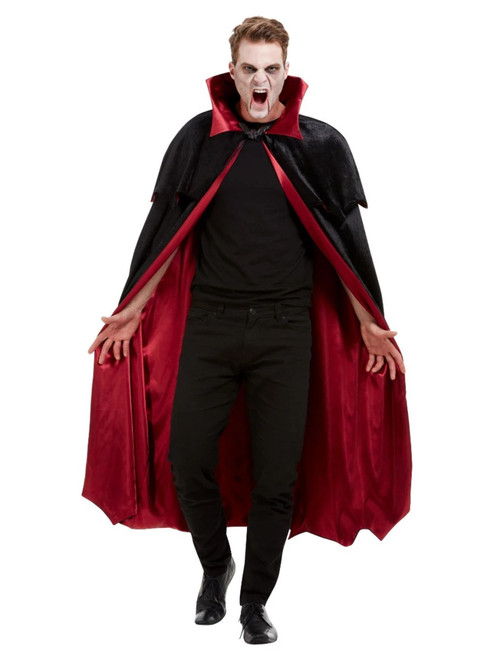 Black and Red Vampire Unisex Adult Halloween Cape Costume Accessory - One Size - IMAGE 1