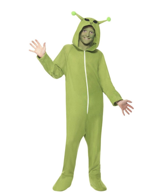 Black and Green Alien Unisex Adult Halloween Costume - Small - IMAGE 1
