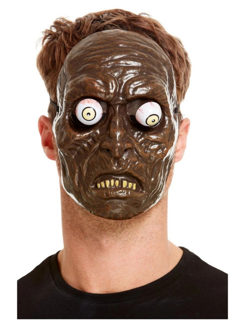 Brown and White Unisex Adult Halloween Zombie Mask Costume Accessory - One Size - IMAGE 1