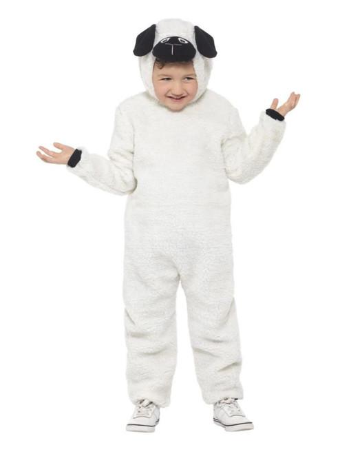 "50"" White and Black Sheep Unisex Child Christmas Costume - Small - IMAGE 1"