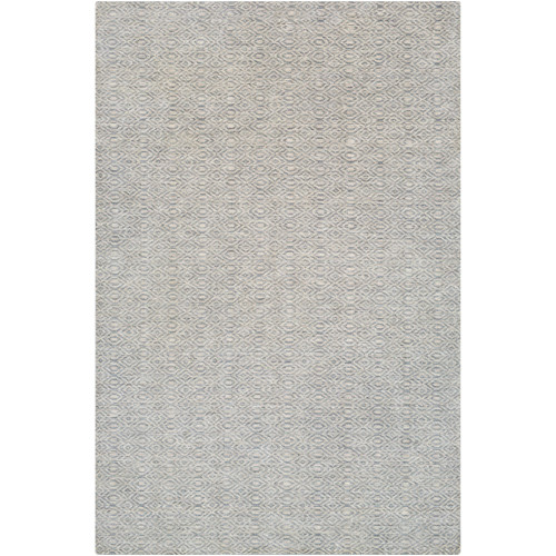 6' x 9' Contemporary Style Gray and Brown Rectangular Area Throw Rug - IMAGE 1