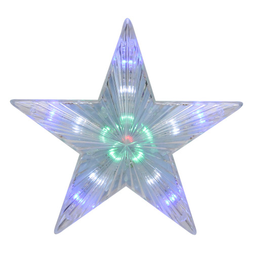 """74"""" Clear Lighted Contemporary Tree Topper Star - Multi-Color Lights - IMAGE 1"""