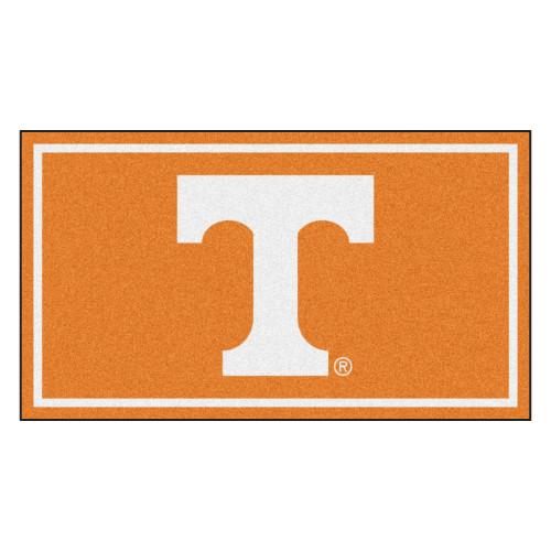 3' x 5' Orange and White NCAA Tennessee Volunteers Rectangular Plush Area Throw Rug - IMAGE 1