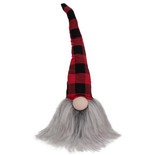 "16"" Red and Black Plaid Buffalo Christmas Gnome Tabletop Decor - IMAGE 1"