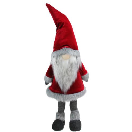 "59"" Red and Grey Santa Gnome Christmas Figurine - IMAGE 1"