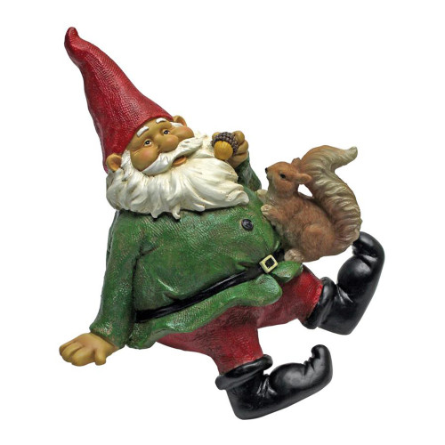"""8"""" Sitting Gnome Hand Painted Outdoor Garden Statue - IMAGE 1"""