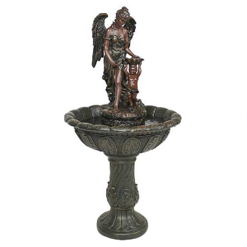 "47"" Angel and Cherub Heavenly Sculptural Fountain - IMAGE 1"