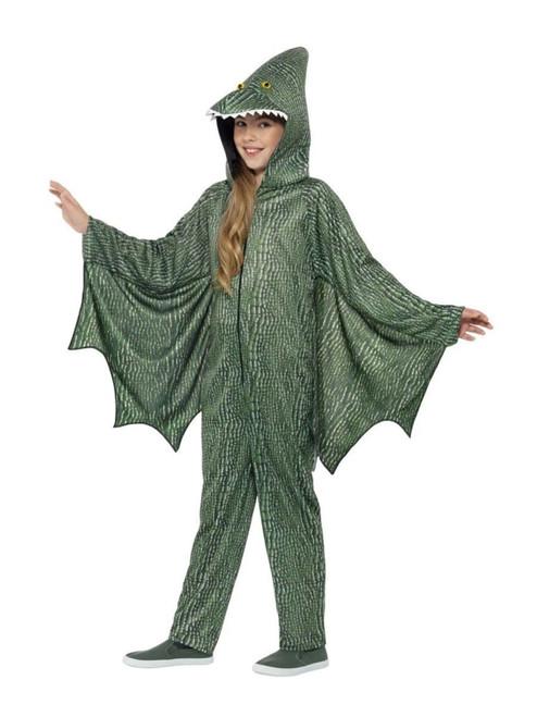 "42"" Green and White Pterodactyl Dinosaur Unisex Child Halloween Costume - Medium - IMAGE 1"