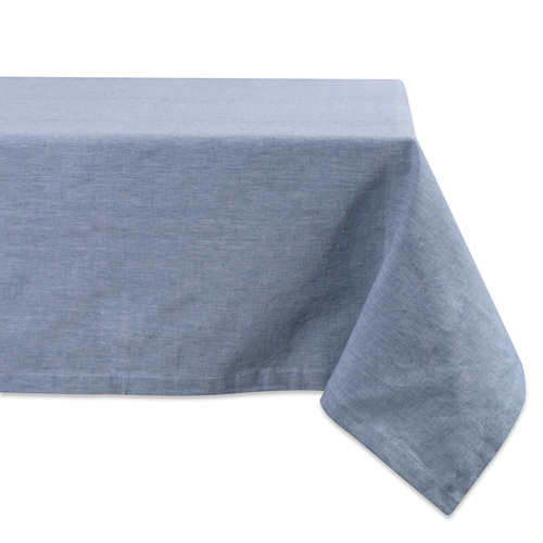 "Blue Chambray Rectangular Tablecloth 60"" x 84"" - IMAGE 1"