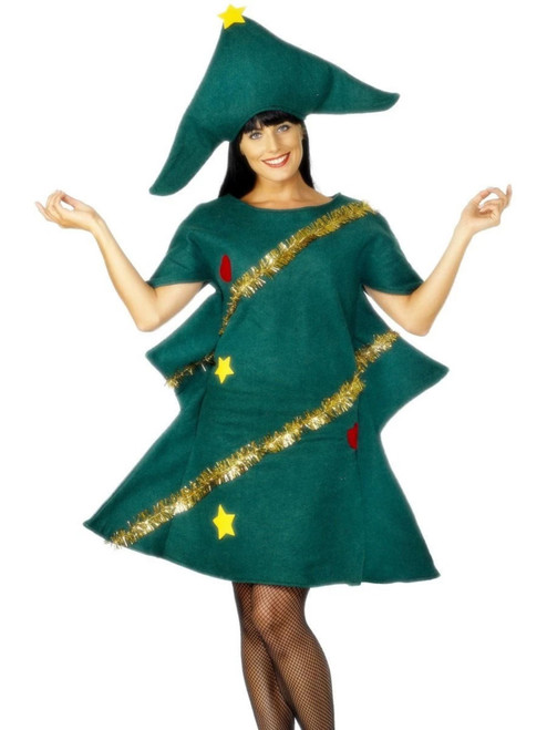 """49"""" Green and Yellow Tree Unisex Adult Christmas Costume - One Size - IMAGE 1"""
