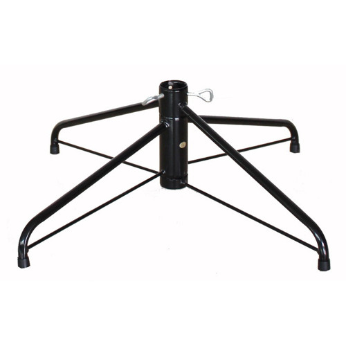 """22"""" Black Metal Folding Christmas Tree Stand - For Artificial Trees Up To 6.5' - 8' Tall - IMAGE 1"""