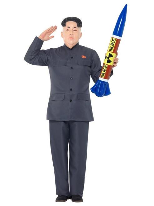 "42"" Gray Dictator Men Adult Halloween Costume - Medium - IMAGE 1"