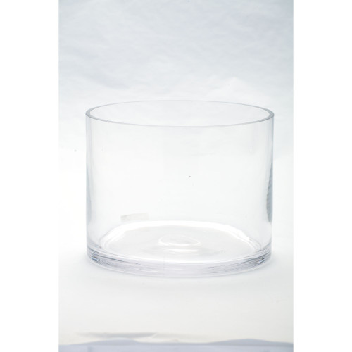 """8"""" Clear Cylindrical Handblown Glass Vase - IMAGE 1"""