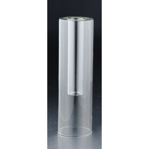 """10"""" Clear Translucent Solid Shine Cylindrical Glass Vase - IMAGE 1"""