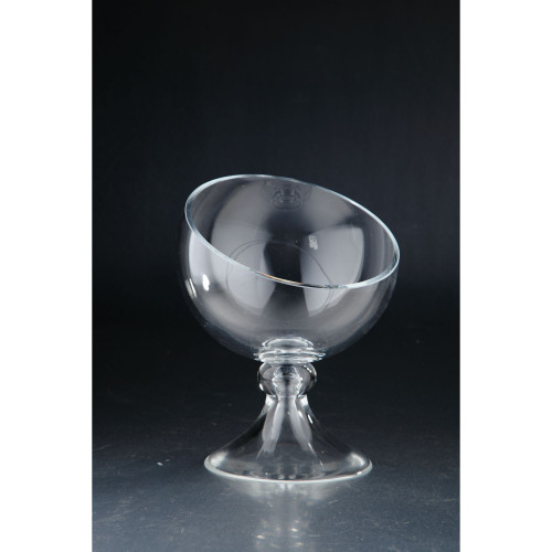 """10.5"""" Clear Solid Snifter Pattern Glass Vase Tabletop Decor - IMAGE 1"""