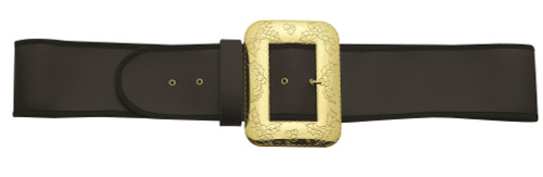 Black and Gold Santa Belt with Cast Buckle – Extra Large - IMAGE 1