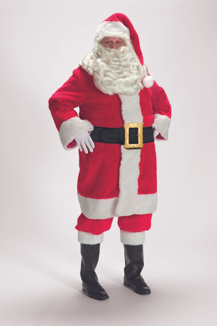7-Piece Deluxe Red Father Christmas Costume - Adult Size XXXL - IMAGE 1