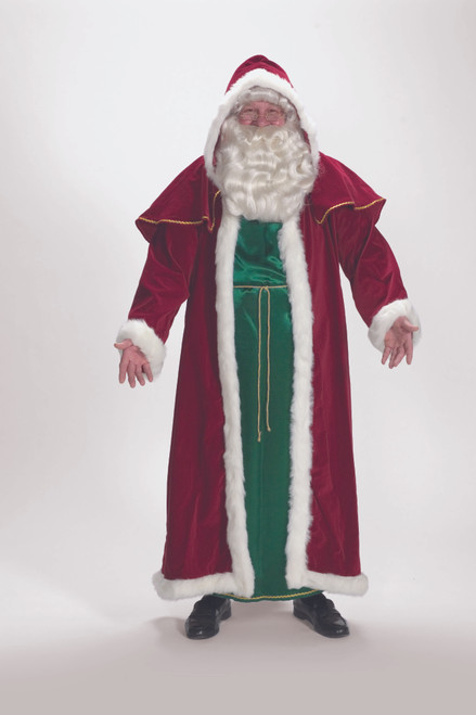 2-Piece Victorian Santa Christmas Suit - Adult Size-One Size Fits Most - IMAGE 1