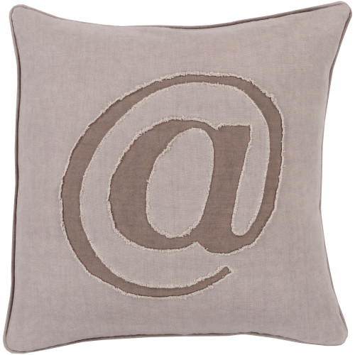 """22"""" Gray and Brown Contemporary Square Throw Pillow Cover - IMAGE 1"""