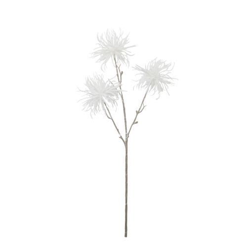 """17"""" Frosted White Spiky Floral Winter Christmas Stem - IMAGE 1"""