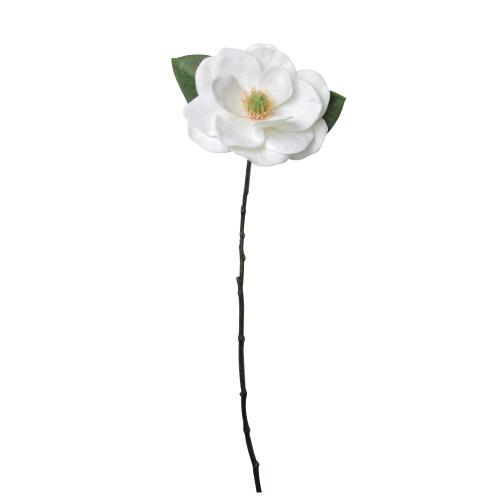 "31"" White and Green Artificial Magnolia Christmas Stem Decor - IMAGE 1"