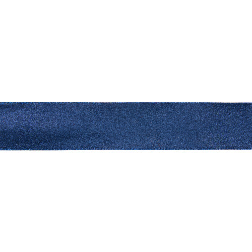 """Sparkly Blue Solid Christmas Wired Craft Ribbon 2.5"""" x 16 Yards - IMAGE 1"""