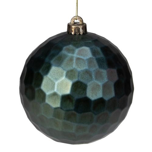 "Green Hexagonal Shatterproof Christmas Ball Ornament 6.5"" (165mm) - IMAGE 1"