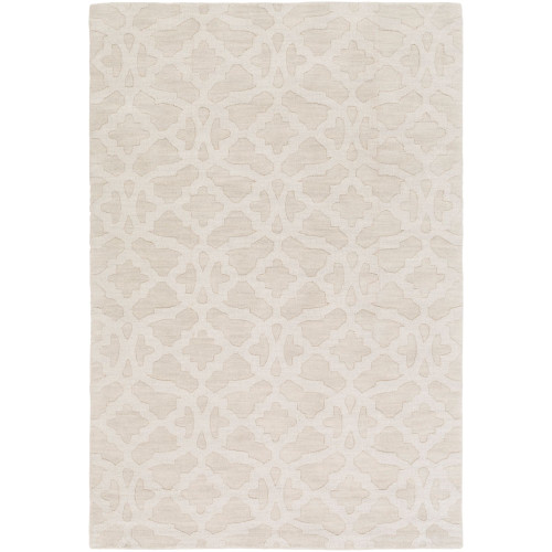 8' x 10' Contemporary Beige and Brown Rectangular Area Throw Rug - IMAGE 1