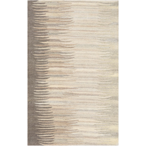 3.25' x 5.25' Contemporary Style Beige and Gray Rectangular Area Throw Rug - IMAGE 1