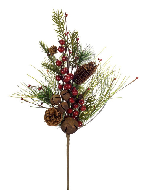 """Club Pack of 12 Green and Red Decorative Artificial Christmas Pine Berry Spray 23"""" - IMAGE 1"""