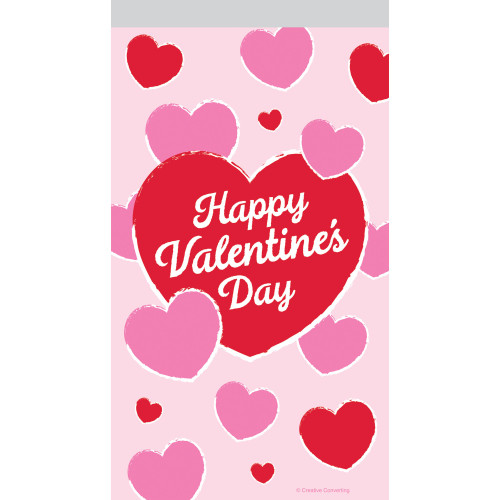 """Club Pack of 144 Red and Pink """"Happy Valentine's Day"""" Favor Bag 9"""" - IMAGE 1"""