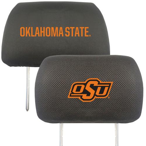 "13"" Black and Orange NCAA Oklahoma State Cowboys Headrest Cover - IMAGE 1"