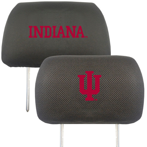 """13"""" Black and Pink NCAA Indiana Hoosiers Headrest Cover - IMAGE 1"""