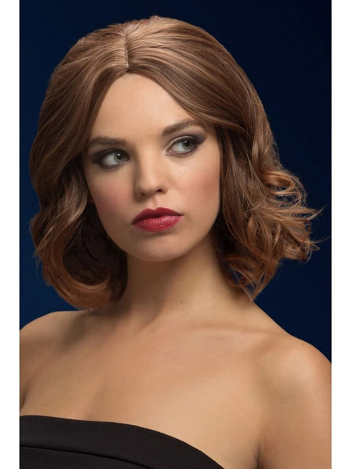 Brown Fever Olivia Soft Wave Bob Women Adult Halloween Wig Costume Accessory - One Size - IMAGE 1