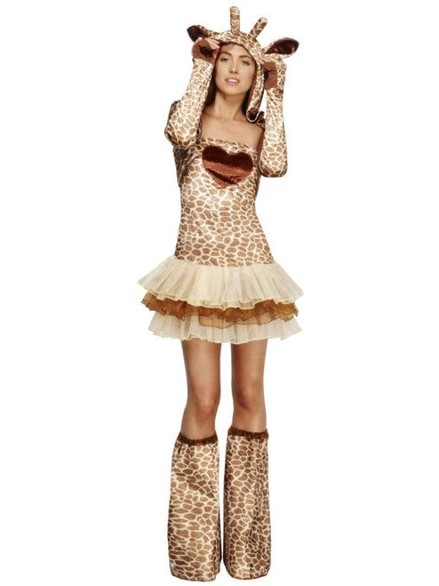 "40"" Brown and Beige Fever Giraffe Women Adult Halloween Costume - Large - IMAGE 1"