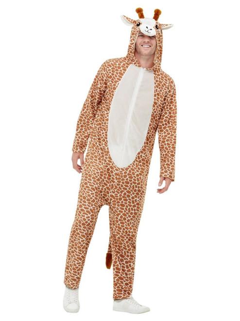 """48"""" Brown and White Giraffe Unisex Adult Halloween Costume - Medium - IMAGE 1"""