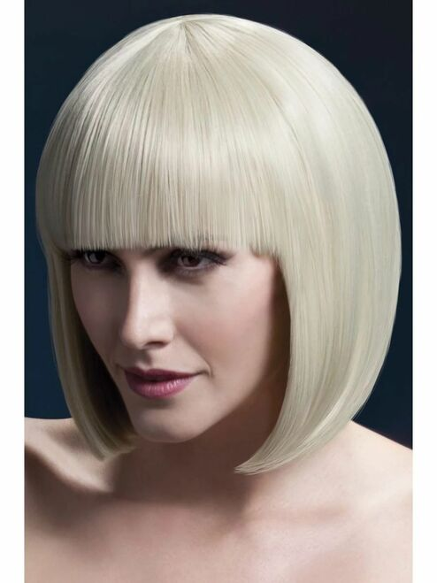 "26"" Blonde White Fever Elise Short Hair Women Adult Halloween Wig Costume Accessory - One Size - IMAGE 1"