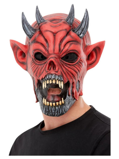 Red and Black Devil Unisex Adult Halloween Mask Costume Accessory - One Size - IMAGE 1