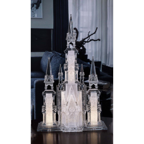 "17.25"" Clear and Gold Large Cathedral LED Lighted Tabletop Decor - IMAGE 1"
